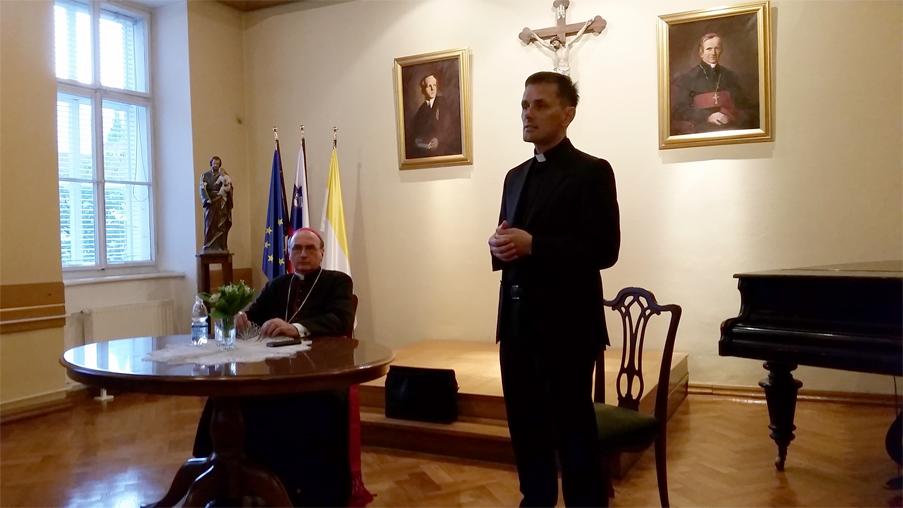 Apostolski nuncij Republike Slovenije, msgr. Juliusz Janusz  obiskal Bogoslovno semenišče