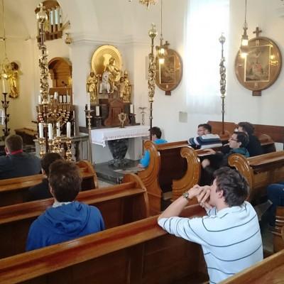 Obisk Plečnikove cerkve v Stranjah.